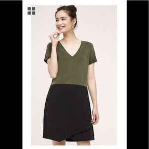 New Sz L Anthropologie Colorblock Horizon Dress